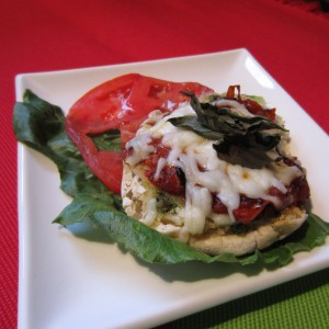 Breakfast Caprese English Muffin
