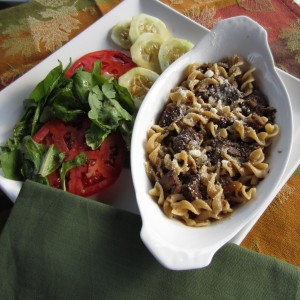 Beef Stroganoff with Whole Wheat Rotini