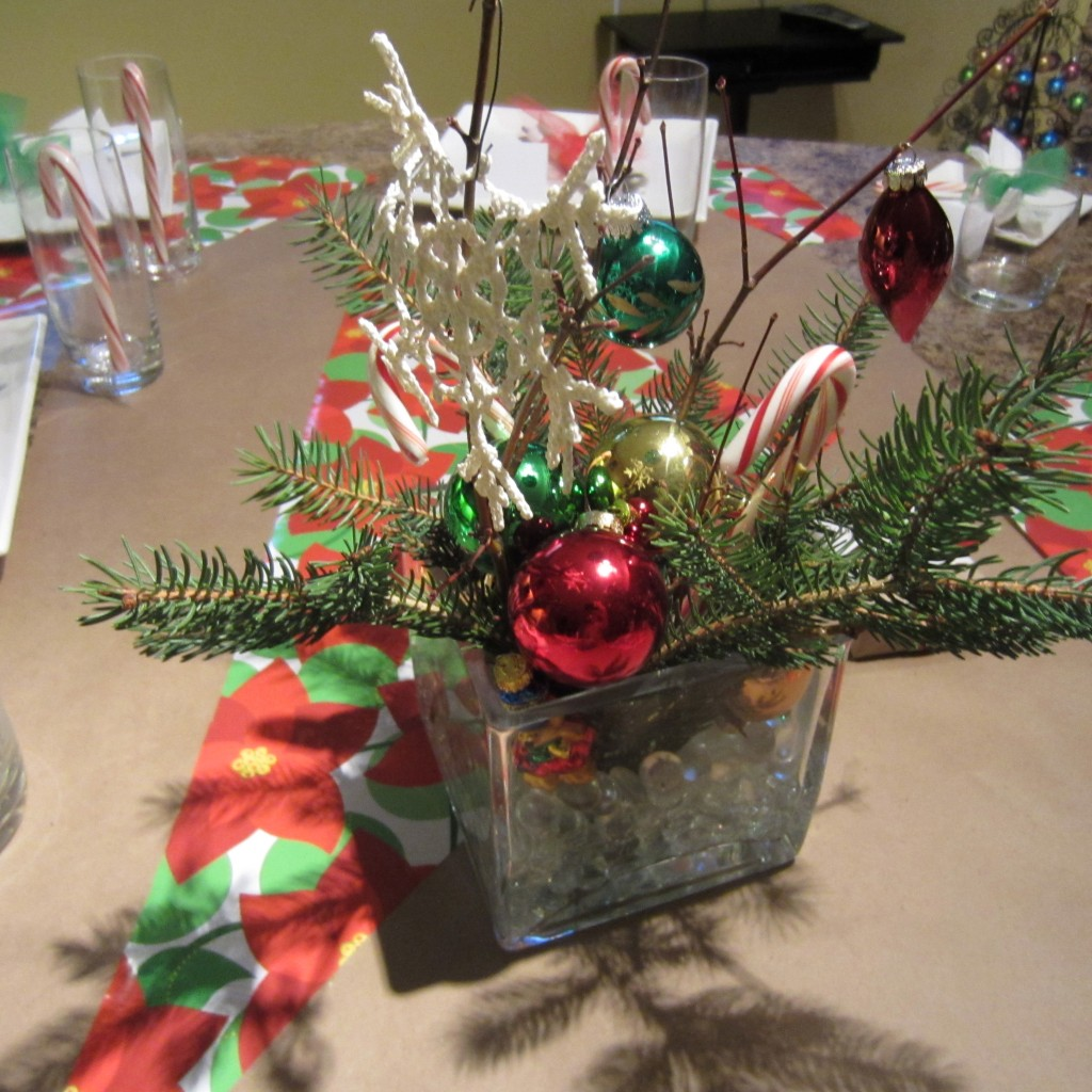 Budget Minded Christmas Holiday Centerpiece