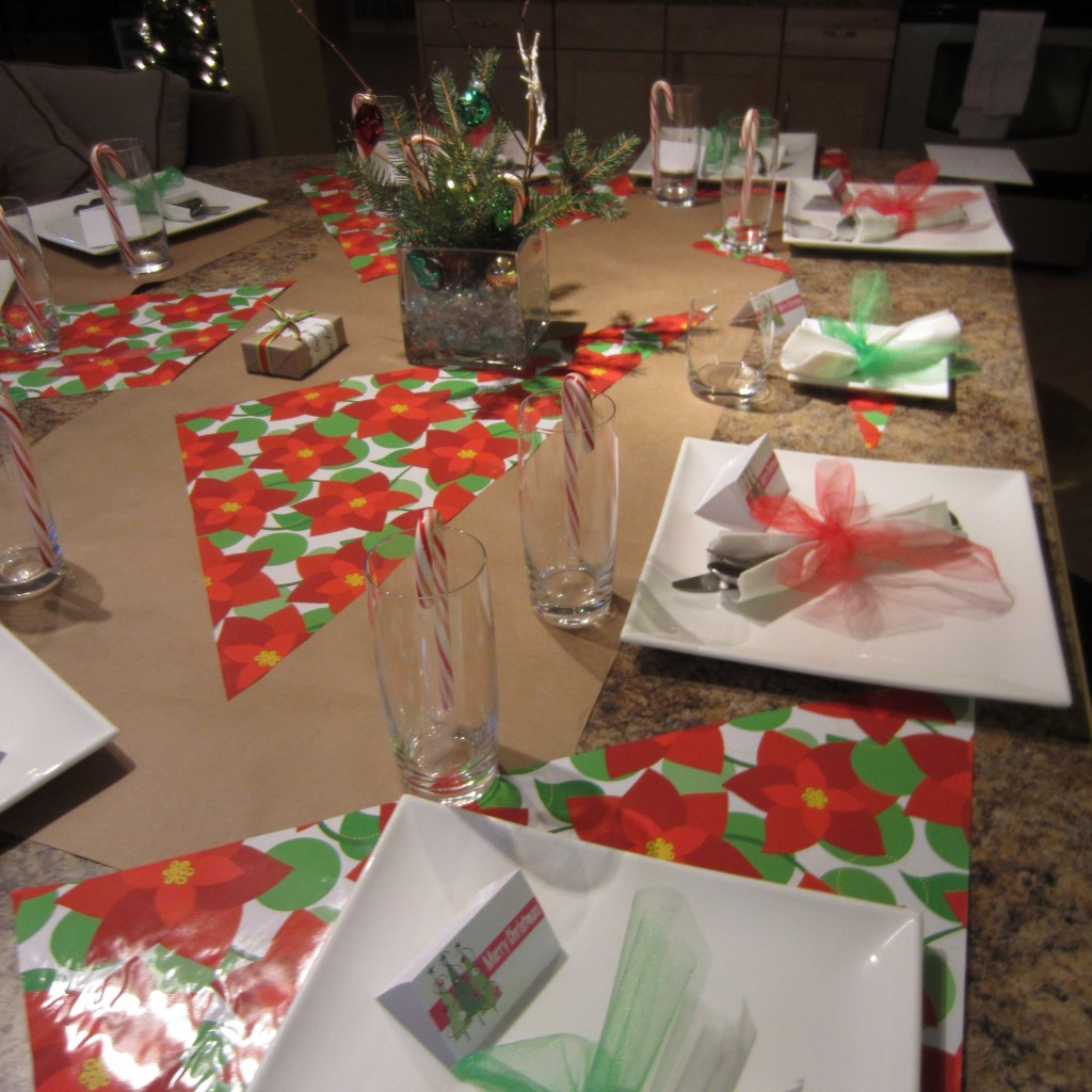 Budget Minded Holiday Table Setting