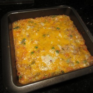 The finished casserole.