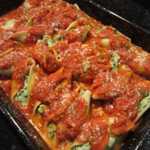 Ricotta & Kale Stuffed Shells