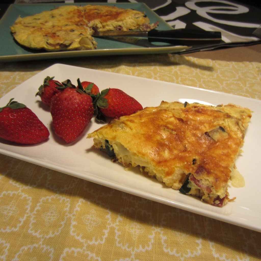 Apple & Bacon, Cheese Zuc Frittata