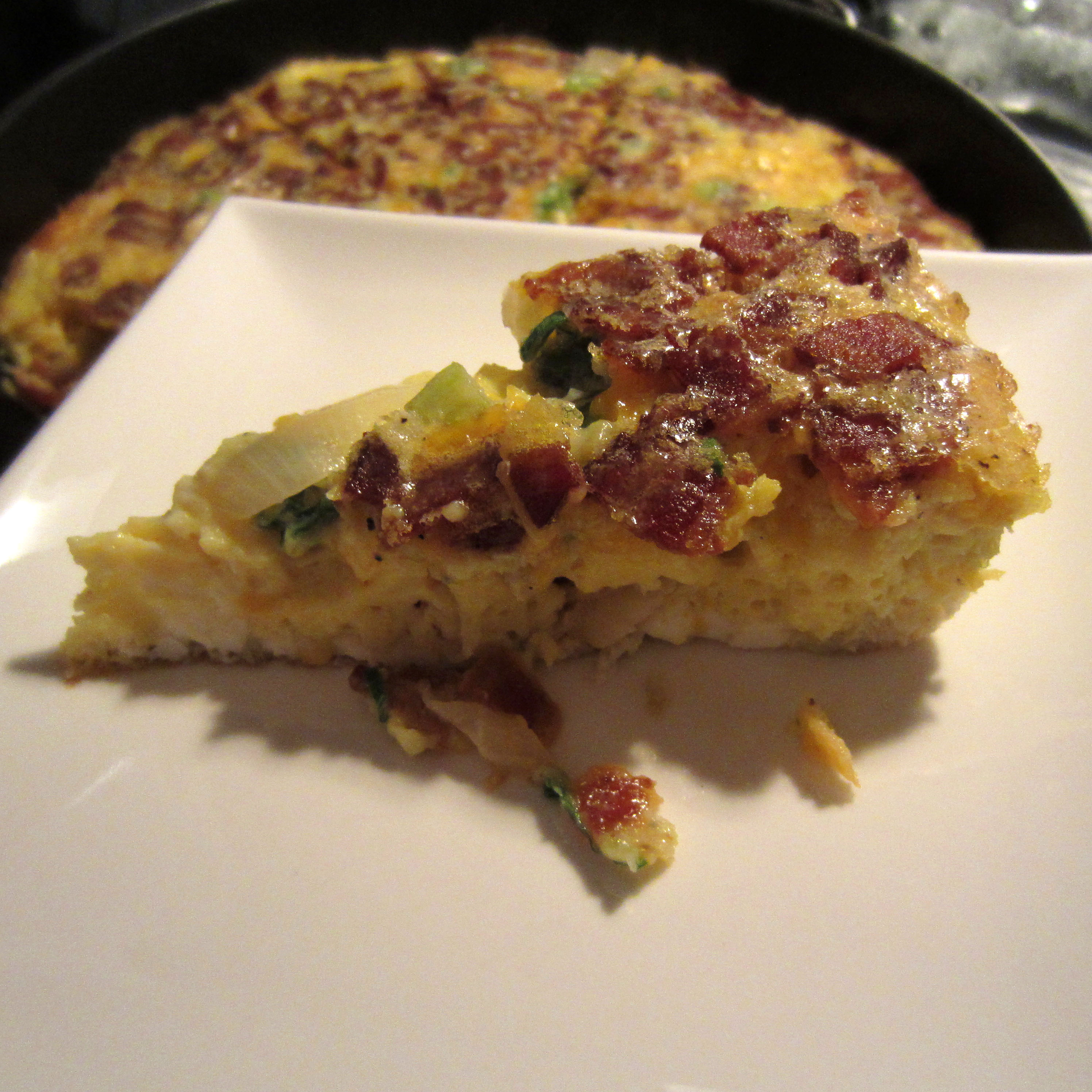 Frittata Recipe Breakfast and Brunch, Lunch with butter, scallions ...