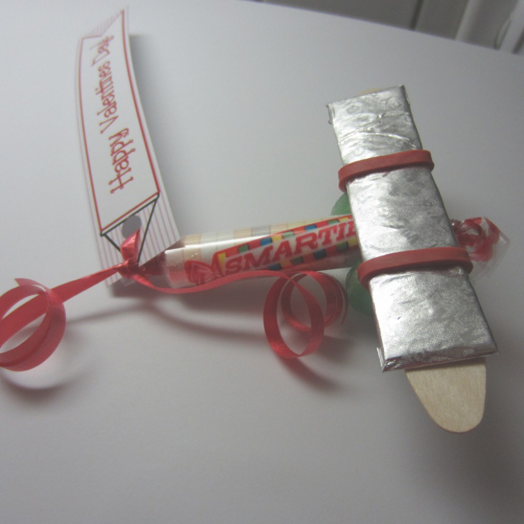 Smartie Candy Valentine Airplane