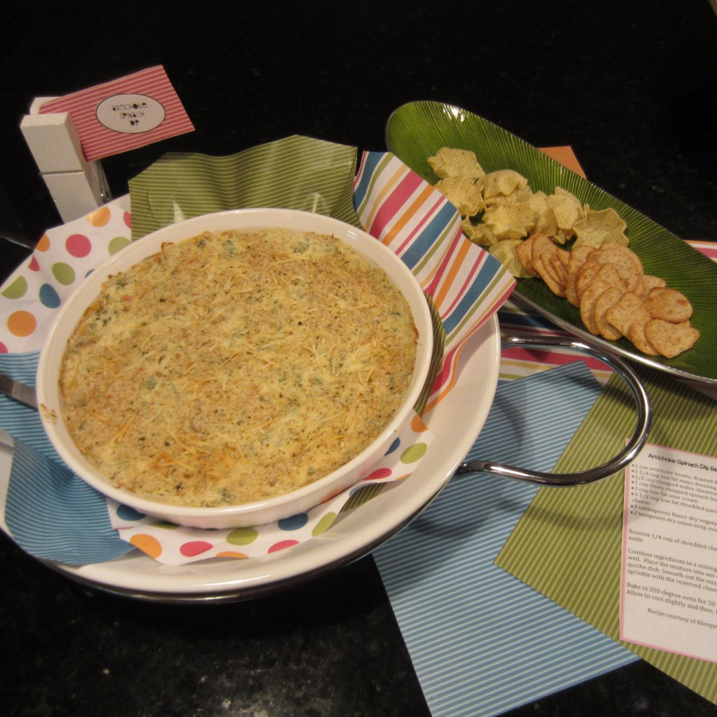 Artichoke Spinach Dip on Display