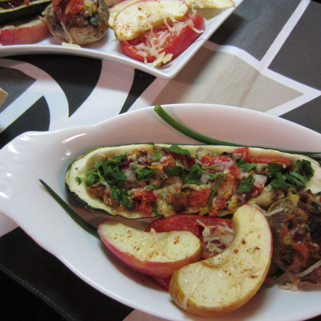 Stuffed Zucchini and Baked Apples