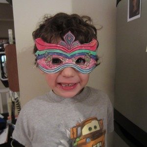 Mardi Gra Fat Tuesday Mask for Kids