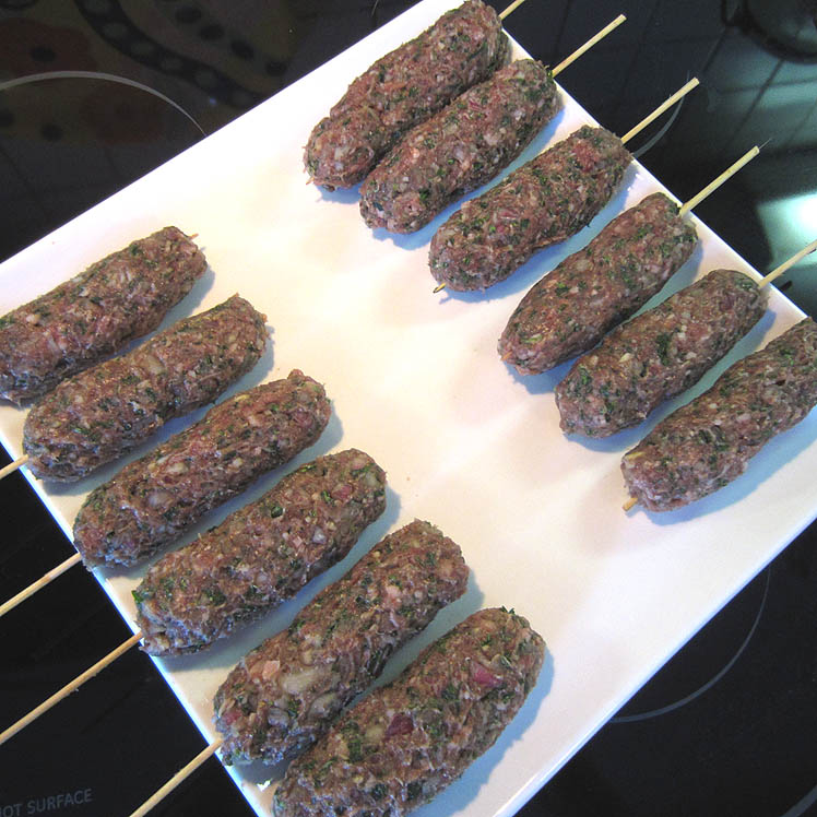 Kafta Kabobs on Skewer