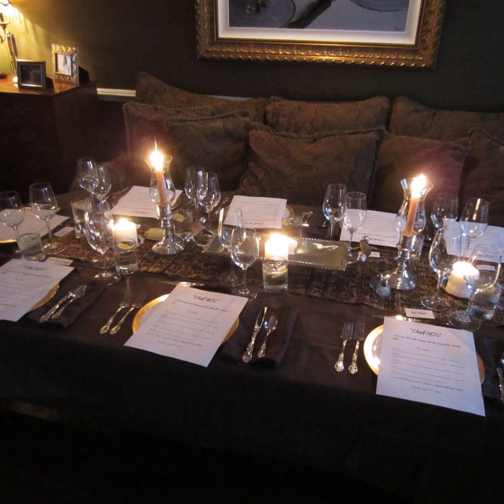 An Old World table setting.