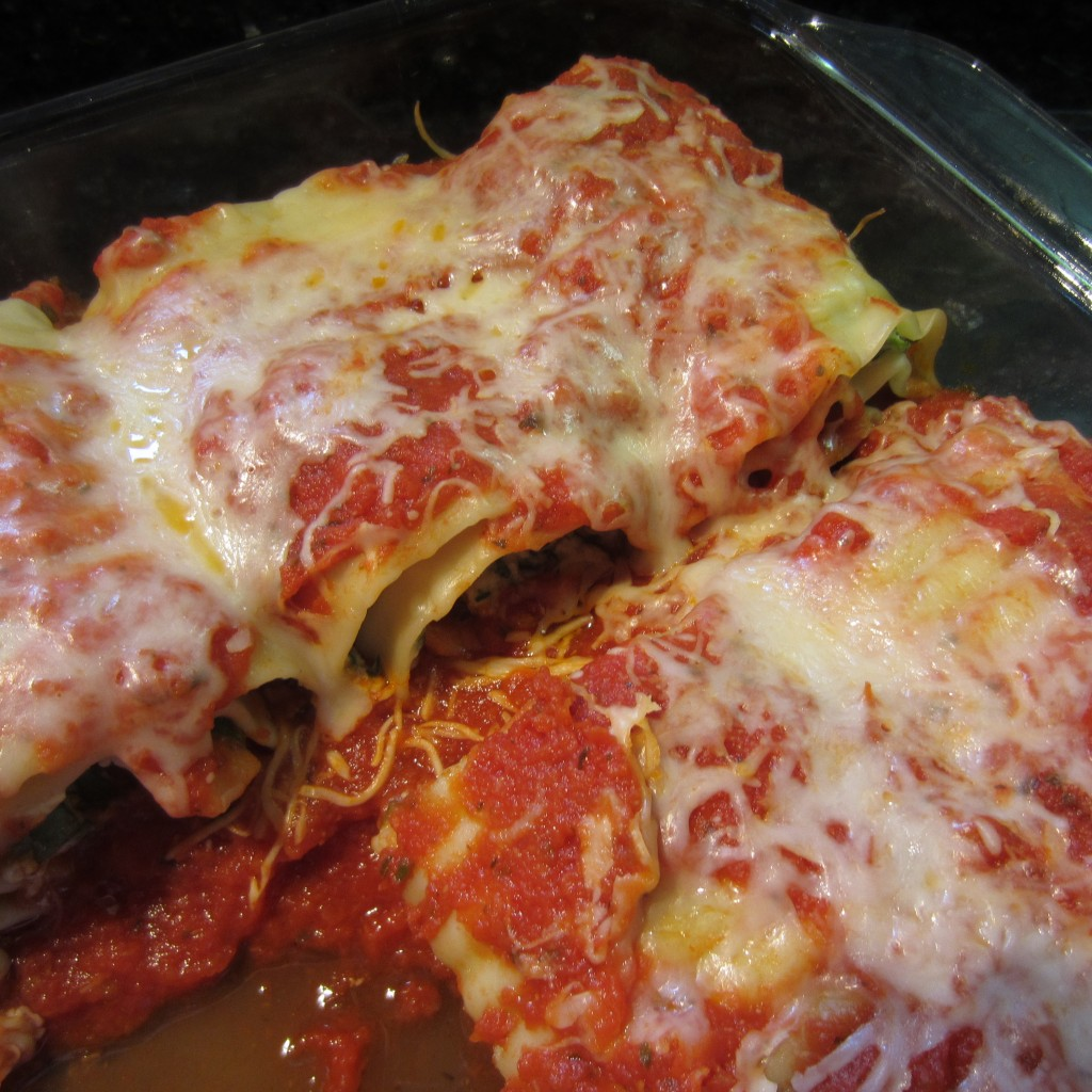 Spinach Lasagna Roll Up