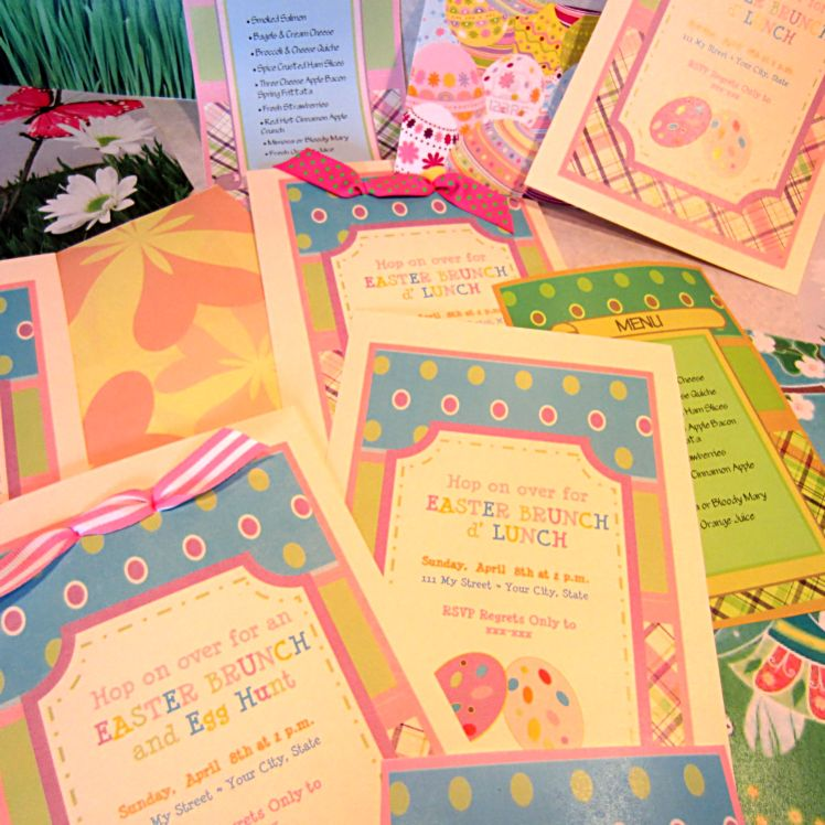 Printable Easter Brunch Invitations
