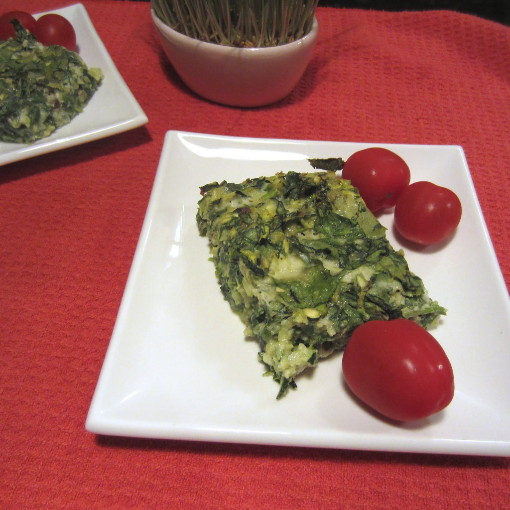 Baked Spinach-Zucchini Au Gratin