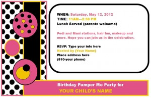 Polka Dot Birthday Theme Invitation