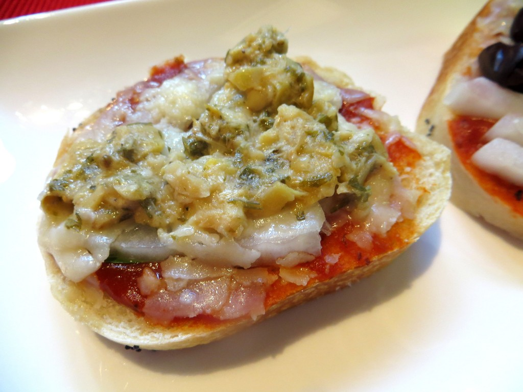 Open face Basil Pesto Sandwich
