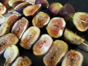 Fresh grilled figs are a culinary delight.