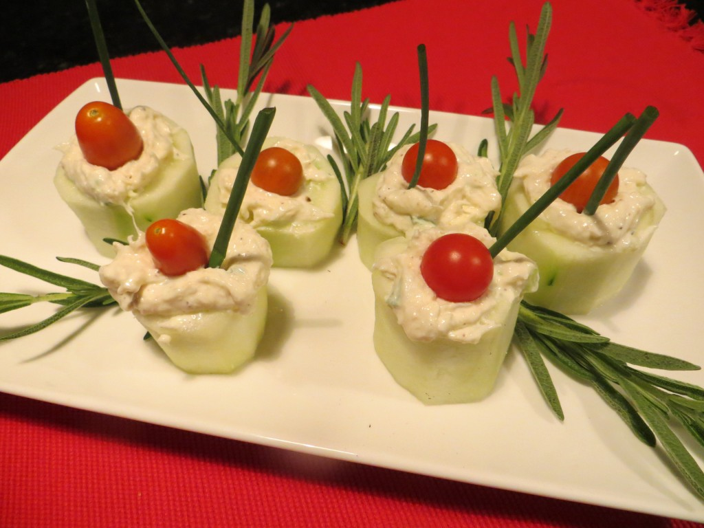 Crab Stuffed Cucumber Cut-Outs