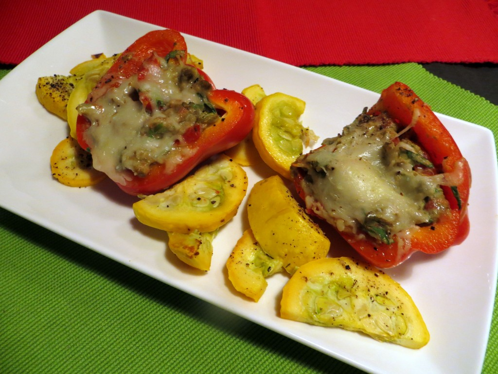 Avocado Stuffed Roasted Red Peppers