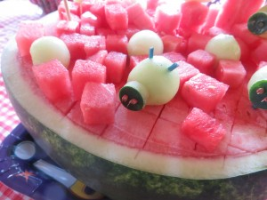 Angry Bird Watermelon Fruit Bowl