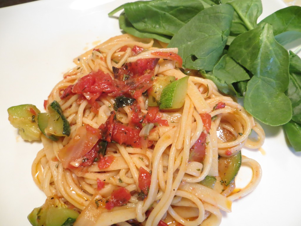 Basil, Garlic and Tomato Pasta